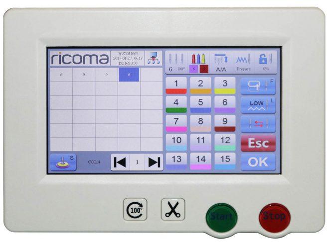 Monotesta compatta RCM 1501 TC7S - Ricoma DalTexRCM-1501-TC7S-03